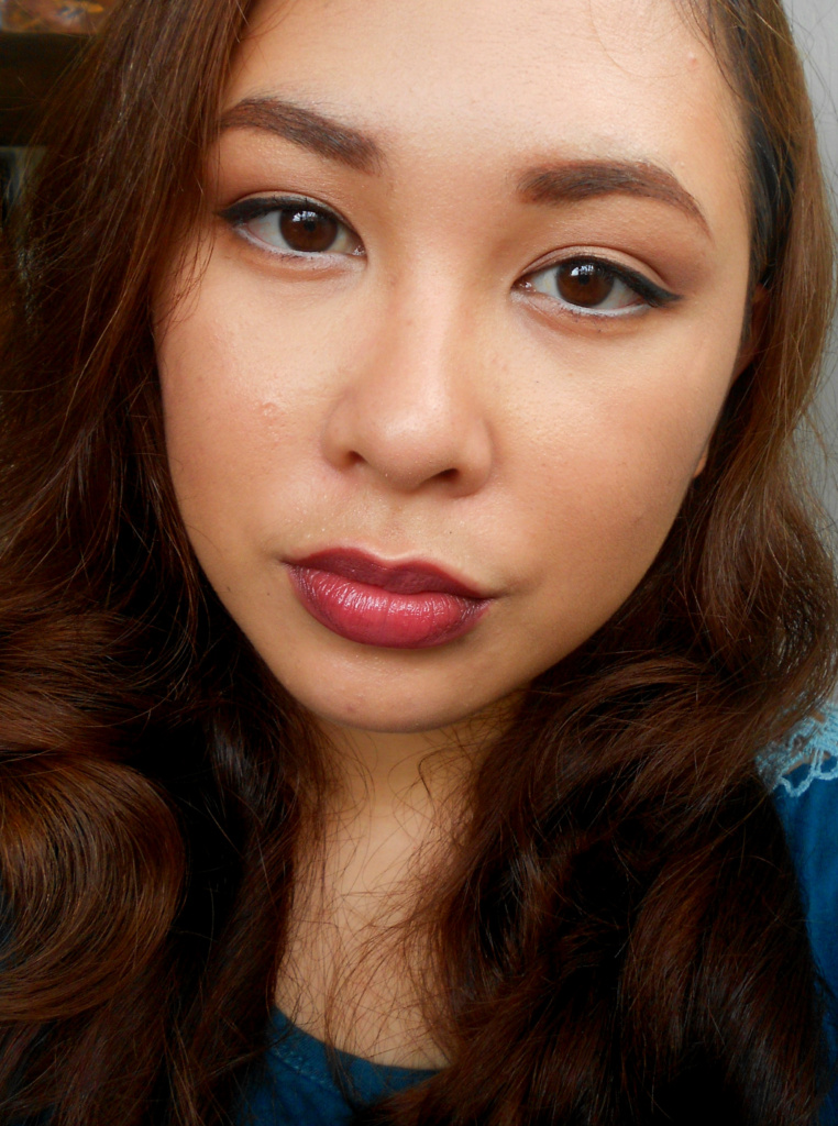 Face of The Day - Neautral Makeup and Dark Lip - 7