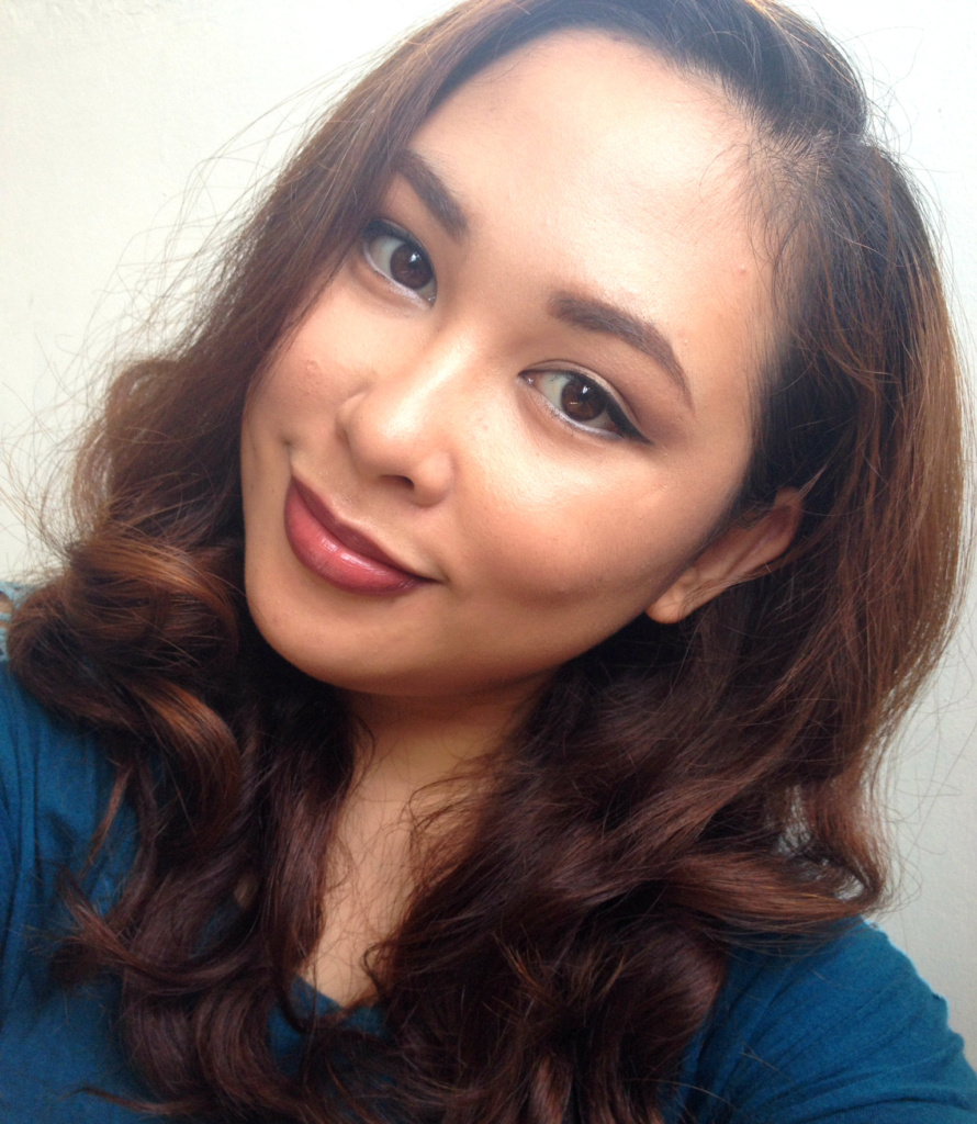 Face of The Day - Neautral Makeup and Dark Lip - 8