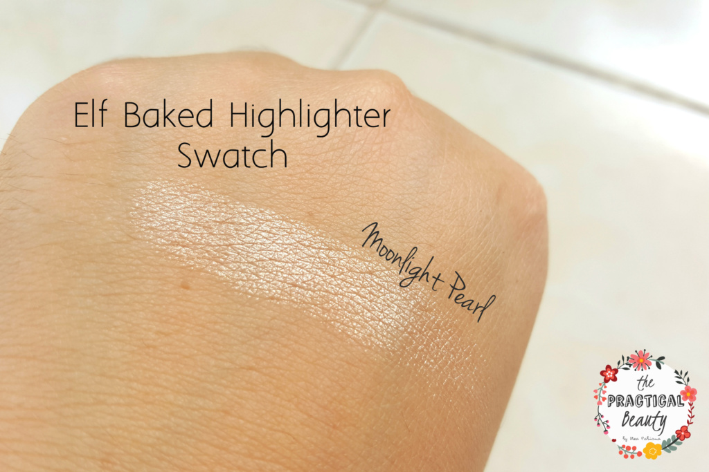 Elf Baked Highlighter - Moonlight Pearls Hand Swatch | The Practical Beauty