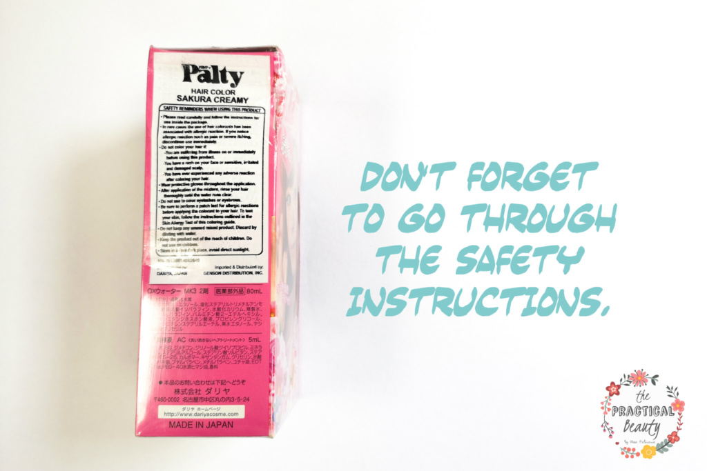 Palty Hair Dye Review: Don't Forget to Read The Safety Instructions | The Practical Beauty